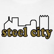 Design ~  Steel City T-shirt  Metallic Gold/Black