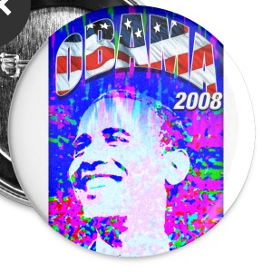 Obama 2008 button - Large Buttons
