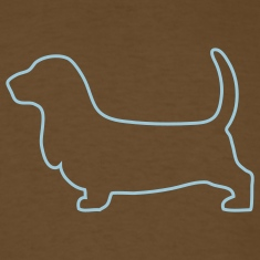 Brown Basset hound outline T-Shirts