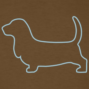 Brown Basset hound outline T-Shirts - Men's T-Shirt