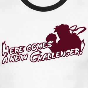 Red/white Here comes a new challenger! T-Shirts - Men's Ringer T-Shirt