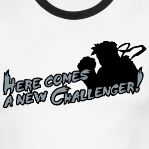 White/black Here comes a new challenger! T-Shirts - Men's Ringer T-Shirt