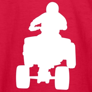 Red 4 wheeler Kids Shirts - Kids' Long Sleeve T-Shirt