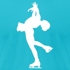 Turquoise ice skating T-Shirts