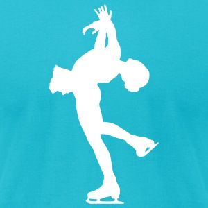 Turquoise ice skating T-Shirts - Men's T-Shirt by American Apparel