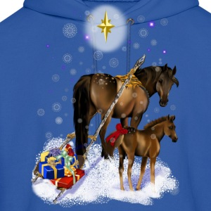 Christmas Mare and Colt - Men's Hoodie