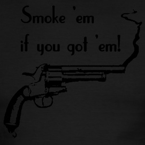 Sky/navy Smoke 'em if you got 'em! T-Shirts - Men's Ringer T-Shirt