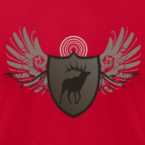 Lemon deer hunting crest and wings design T-Shirts - Men's T-Shirt by American Apparel
