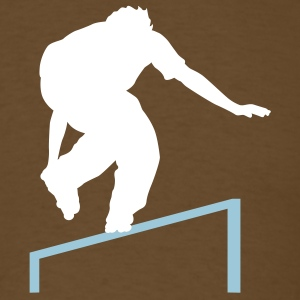 Brown skating rail T-Shirts - Men's T-Shirt