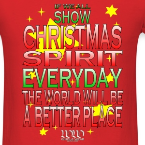 Red Christmas Spirit T-Shirts - Men's T-Shirt