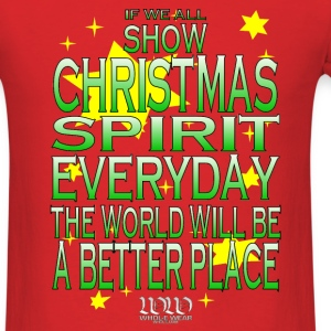 Red Christmas Spirit (Green Version) T-Shirts - Men's T-Shirt