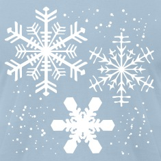 Light blue Winter SNOWFLAKES Design T-Shirts