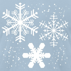 Light blue Winter SNOWFLAKES Design T-Shirts - Men's T-Shirt by American Apparel