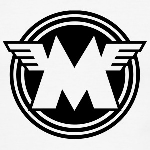 White/black Matchless emblem - AUTONAUT.com T-Shirts - Men's Ringer T-Shirt