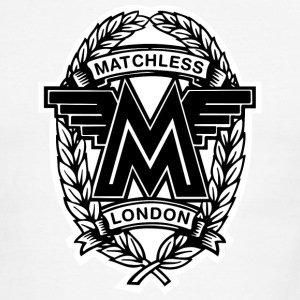 White/black Matchless London emblem / AUTONAUT.com T-Shirts - Men's Ringer T-Shirt