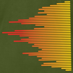 Olive audio levels music design T-Shirts - Men's T-Shirt by American Apparel