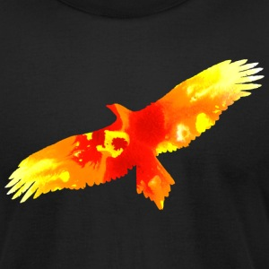 Black firebird watercolor fire painting T-Shirts - Men's T-Shirt by American Apparel