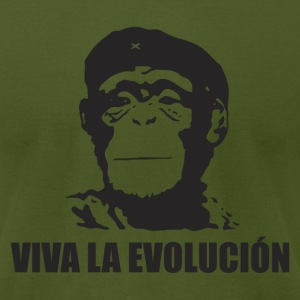 Viva La Evolucion - Men's T-Shirt by American Apparel
