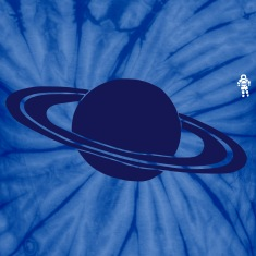 Spider baby blue Saturn - Astronaut - Space T-Shirts