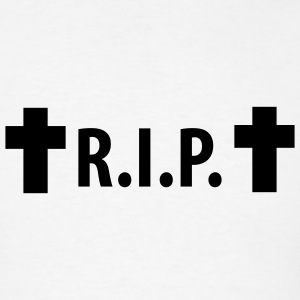 White R.I.P. - Rip - Rest in peace - Cross T-Shirts - Men's T-Shirt