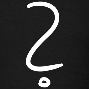 Black Question Mark T-Shirts - Men's T-Shirt