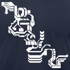 Navy Cool Computer Design T-Shirts
