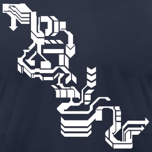 Navy Cool Computer Design T-Shirts - Men's T-Shirt by American Apparel