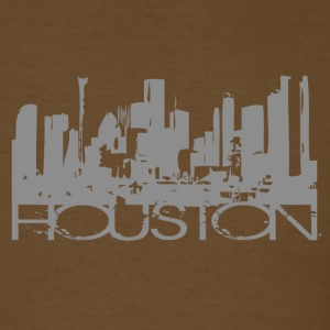 Brown Houston Texas T-shirt Design T-Shirts - Men's T-Shirt