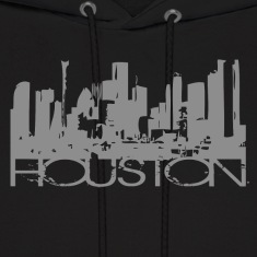 Black Houston Texas T-shirt Design Hoodies