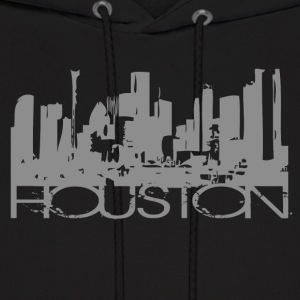 Black Houston Texas T-shirt Design Hoodies - Men's Hoodie