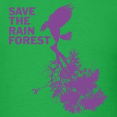 Bright green Save the Rain Forest T-Shirts