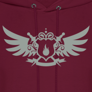 Design ~ Pyro Maniac With Swords Winged Crest Graphic