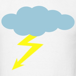 White Thunderstorm T-Shirts - Men's T-Shirt