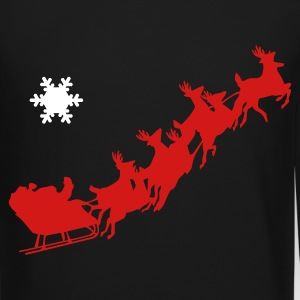 Men's Crewneck Sweatshirt with Santa and sleigh  - Crewneck Sweatshirt