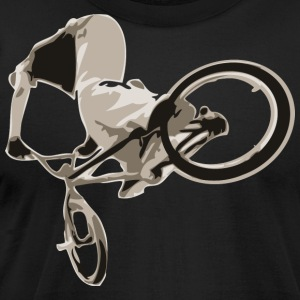 Black BMX bike trick design T-Shirts - Men's T-Shirt by American Apparel