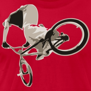 Red BMX bike trick design T-Shirts - Men's T-Shirt by American Apparel