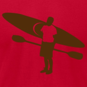 Lemon river kayak and paddler outdoors T-Shirts - Men's T-Shirt by American Apparel