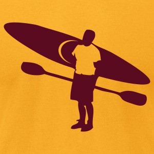 Gold river kayak and paddler outdoors T-Shirts - Men's T-Shirt by American Apparel