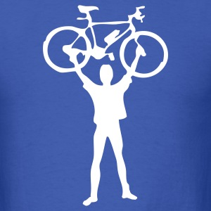 Royal blue mountain bike - Men's T-Shirt