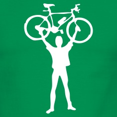 Green/white mountain bike design T-Shirts