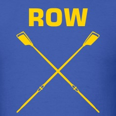 Royal blue ROW crew oars design for crew team T-Shirts