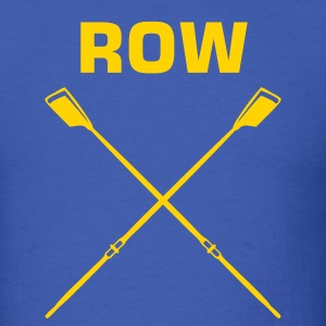 Royal blue ROW crew oars design for crew team T-Shirts - Men's T-Shirt