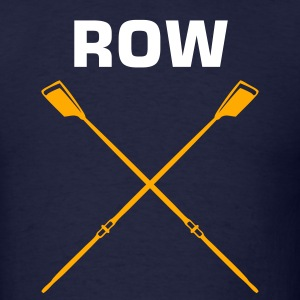 Navy ROW crew oars design for crew team T-Shirts - Men's T-Shirt