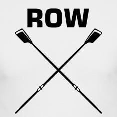 White ROW crew oars design for crew team Long sleeve shirts