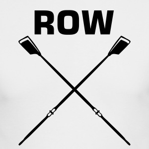 White ROW crew oars design for crew team Long sleeve shirts - Men's Long Sleeve T-Shirt by Next Level