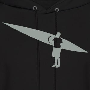 Black Sea kayaker and Kayak flex design Hoodies - Men's Hoodie