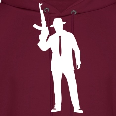 Burgundy Modern gangsterAK-47 Hoodies