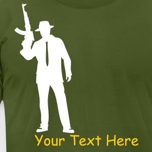 Olive Modern gangsterAK-47 T-Shirts - Men's T-Shirt by American Apparel