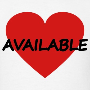 White Heart - Available - Single T-Shirts - Men's T-Shirt