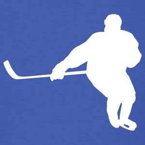 Royal blue hockey player T-Shirts - Men's T-Shirt